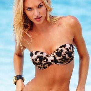 Victoria's Secret animal print bandeau bikini top